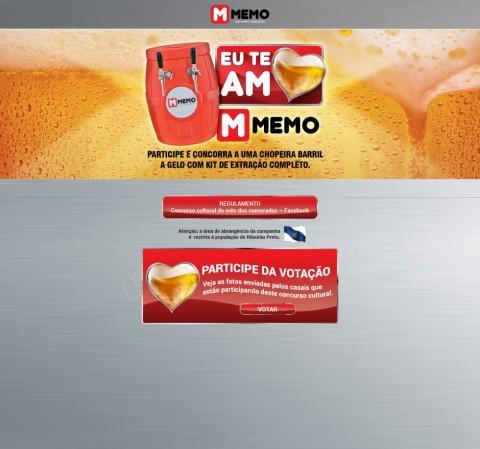 Hotsite - Te Amo MEMO